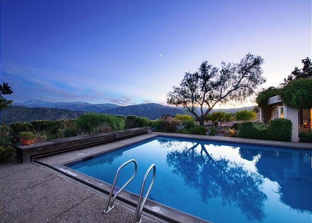 Cool Down on Sunny Valley Days (pool is seasonal, open April - October, heated by passive solar heat) - 3658 Villa Samana ~ Wine Country Estate with Pool!  Stunning Views! - Carmel Valley - rentals
