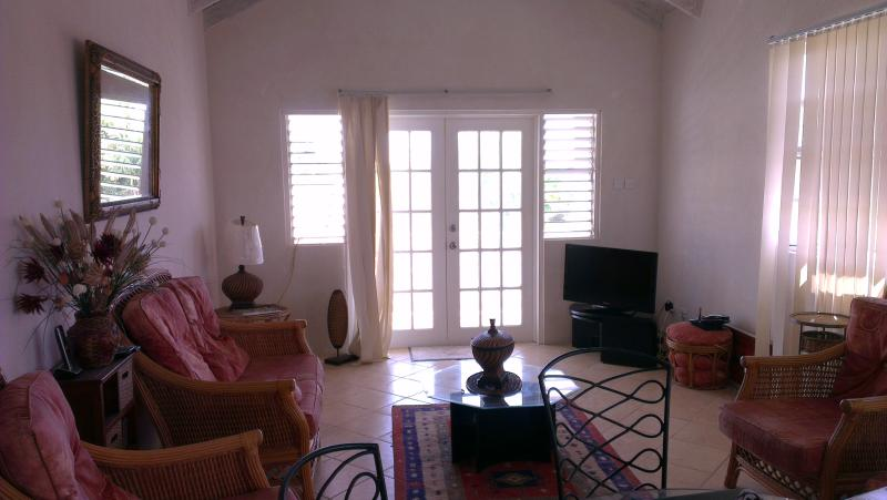 Spacious main living area - Large 1st Floor 2 bed villa 50 metres from the beach - Oistins - rentals
