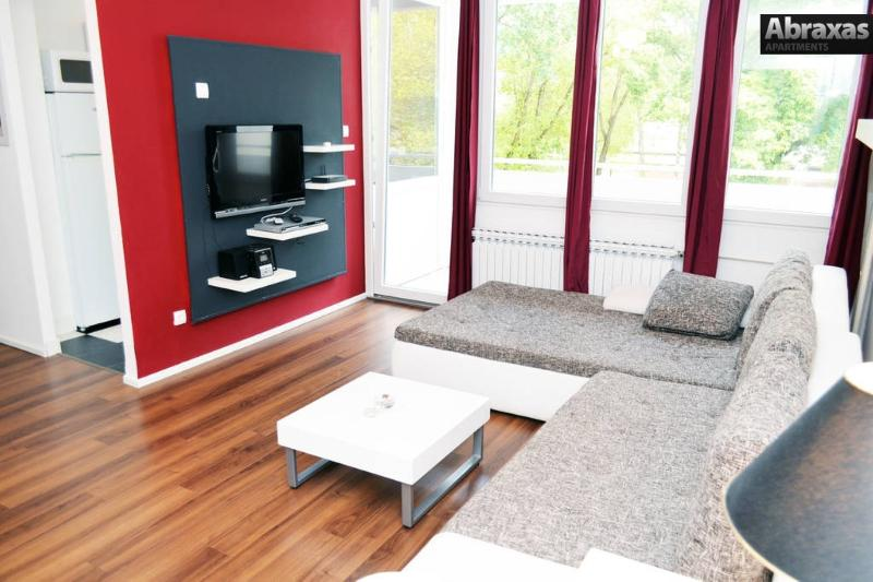 Living room, with multimedia and sofa bed - Abraxas apartment - Zagreb - rentals