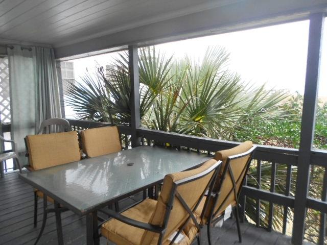 Enjoy coffee by the sea every morning from your private oceanfront deck. - A Sea Chant - B 115382 - Carolina Beach - rentals