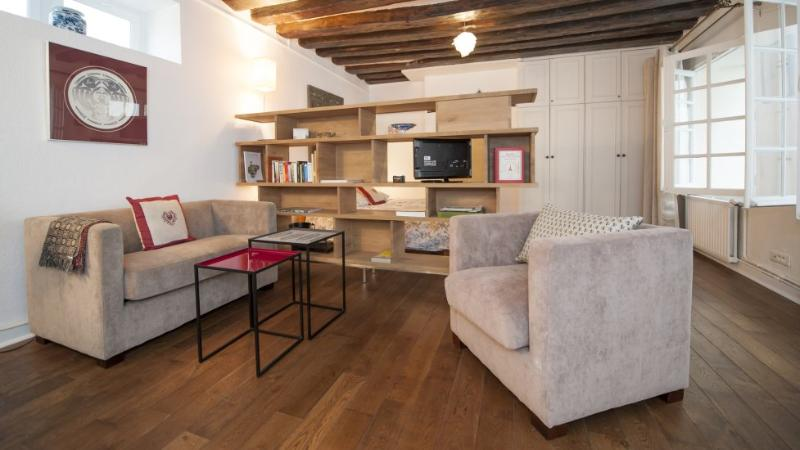 The living room - Studio   Paris Saint Germain des Pres district (934) - Paris - rentals