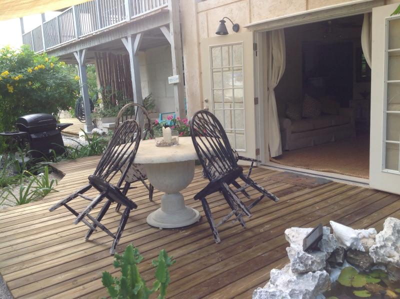 Outside new decking - Olde Beach House 2 double ensuites close to beach - Providenciales - rentals