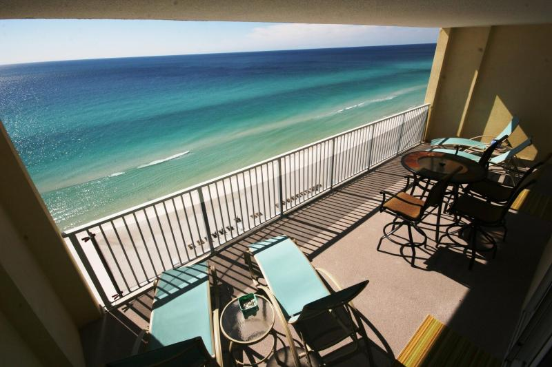 Large Private Balcony with View of the Gulf of Mexico - Beach front condo with amazing views!! 2/2 at Ocea - Panama City Beach - rentals