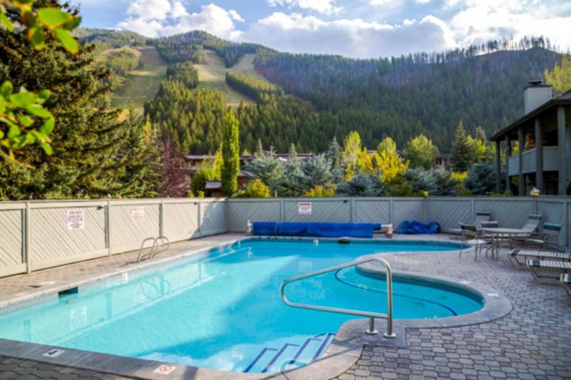 Year-round shared pool, hot tub, and sauna make this a standout property! - Image 1 - Ketchum - rentals
