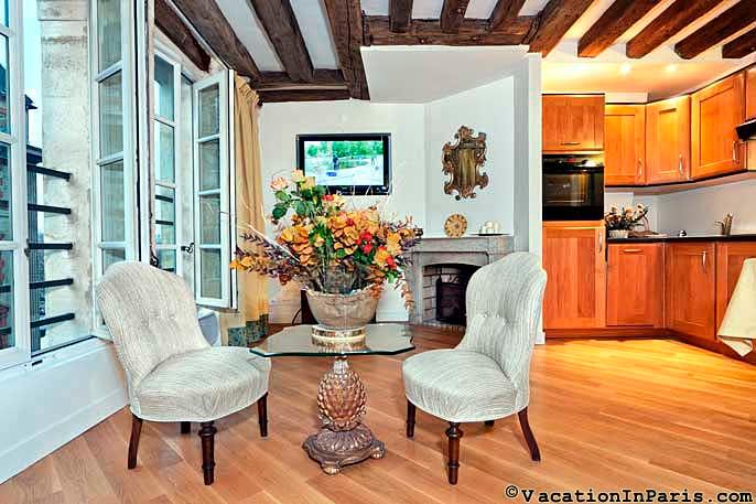 River-View One Bedroom in St.Germain - Image 1 - Paris - rentals