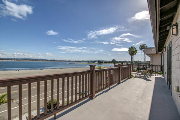 2nd Floor Deck and View - 3434 Crown Point Drive - Pacific Beach - rentals