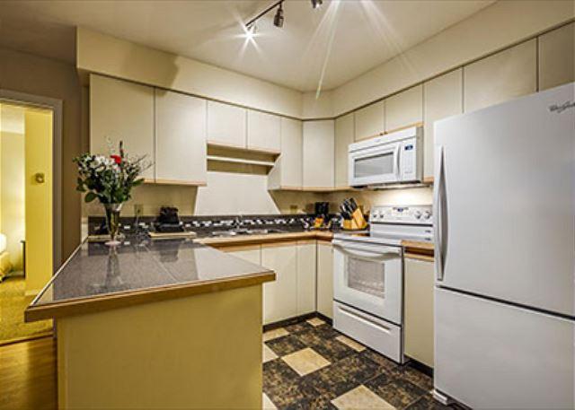 Kitchen with New Appliances - Greystone Lodge 2 Bedroom * RENO 2014* Ski-in Ski-out Whistler Condo - Whistler - rentals