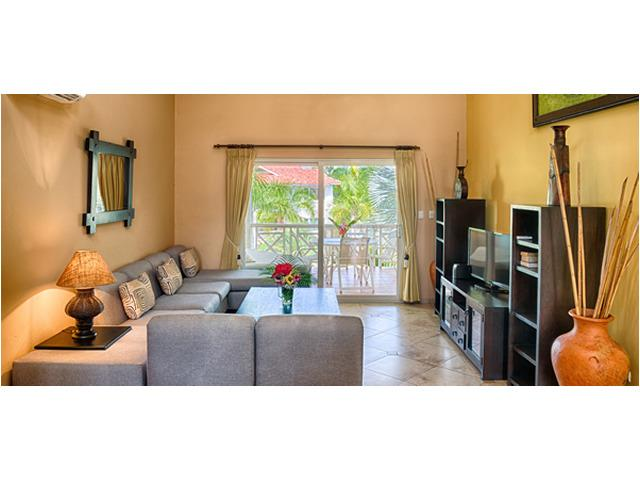 Luxury 2 bedroom condo, living room - Luxury 2 bdr Center Cabarete Beachfront Residence - Cabarete - rentals