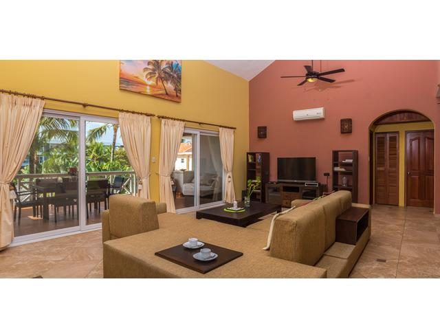 living room third floor condo - OCEAN DREAM 3 bdr Beachfront Res/Center CABARETE - Cabarete - rentals