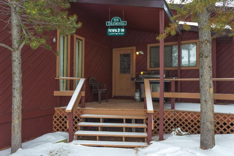 One of two entrances - Cabin 418 - The Firehole - West Yellowstone - rentals