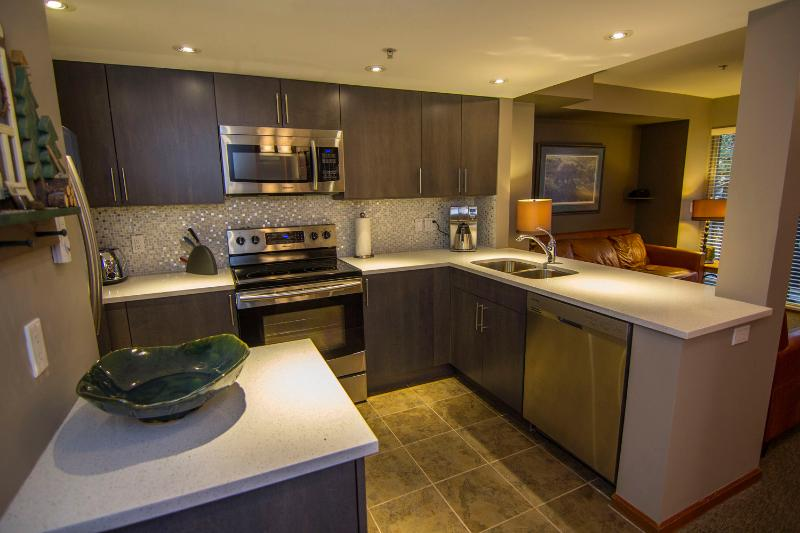 Fully equipped, renovated kitchen - Lagoons 98, a pet-friendly 3 bdrm, private hot tub - Whistler - rentals