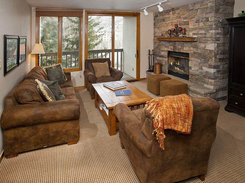 Living Room w/Sleeper Sofa - Townsend-Place-B205 - Vail - rentals