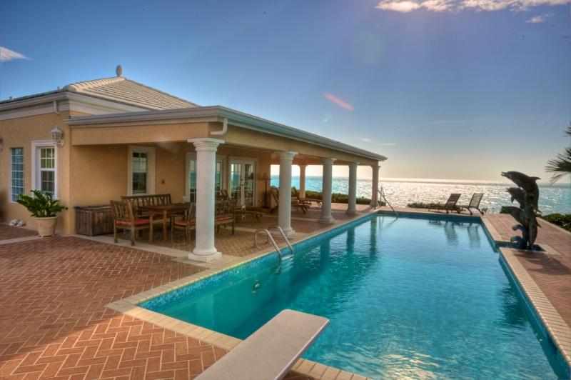 Three Dolphins Beachfront Tennis Villa/rent 4-12 bedrooms - Image 1 - Long Bay Beach - rentals