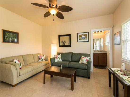 living room - Lalis Cottage-Newly constructed guest house. Air Conditioning available for Fee. Minutes from Sheraton Beach, Golf Course and Kukuiula Shopping Village - Poipu - rentals