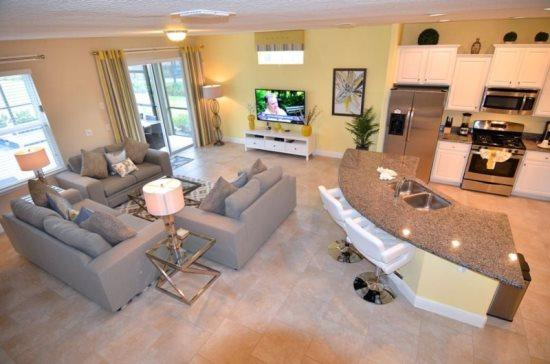 Exclusive 6 Bedroom 5.5 Bathroom Pool Home with Spa in Solterra. 4191OD - Image 1 - Orlando - rentals