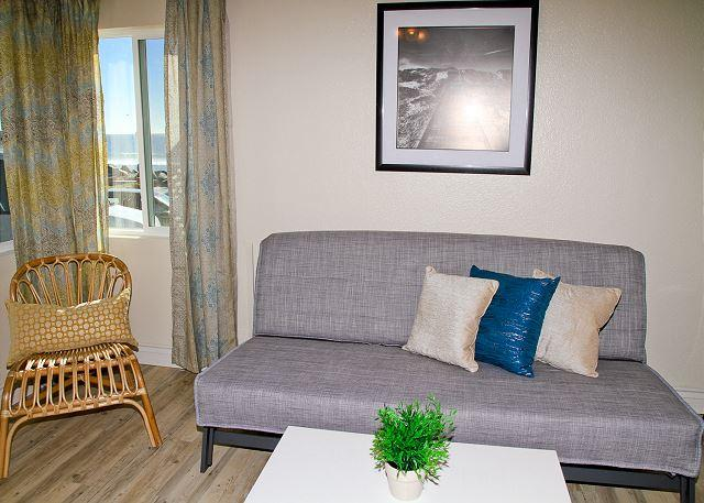 Remodeled Beach Rental, 1br/1ba, shared firepit, bbq, patio, steps to sand #2 - Image 1 - Oceanside - rentals