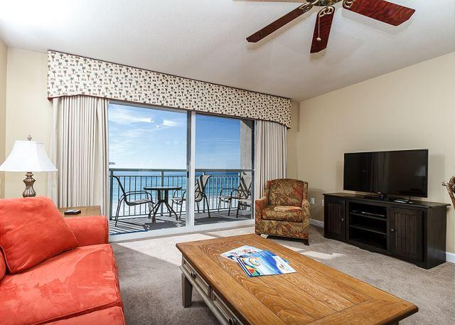 4th floor 1 bedroom beach front condo with amazing views! - PI 409:Beautiful beach front condo! Full kitchen, Free Beach Service - Fort Walton Beach - rentals