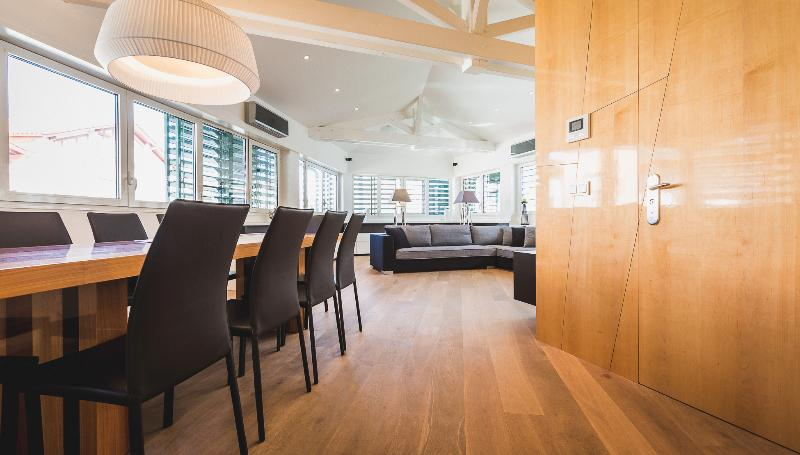 Dining table and living room - Luxury Penthouse Downtown - Steps from the Beach - Biarritz - rentals