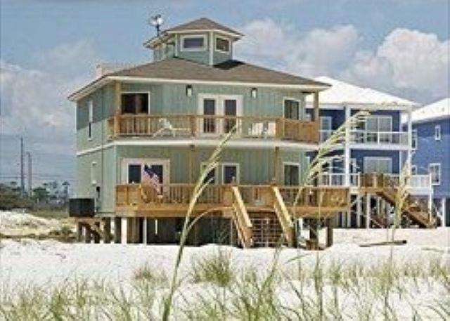 Enjoy Gulf front from 2 large decks - Halekai II, Beachfront House, Private Pool - Orange Beach - rentals
