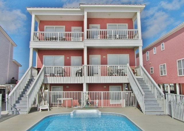 South Side of Sunglade - 'Sunglade' Beachfront Family House and Pool - Gulf Shores - rentals