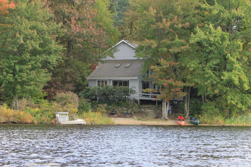 View from the lake to the house - Pocono Lakefront Retreat - Gouldsboro - rentals