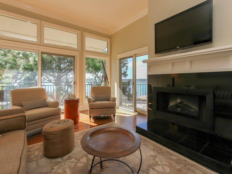 Living Room with Views of Calibogue Sound at 1882 Beachside Tennis - 1882 Beachside Tennis - Hilton Head - rentals
