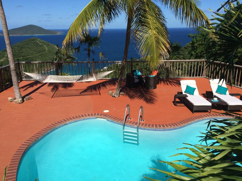Your beautiful deck and expansive view await you - Lux. Honeymoon Suite/Wifi/Gated/Priv.Pool/Hot Tub - East End - rentals