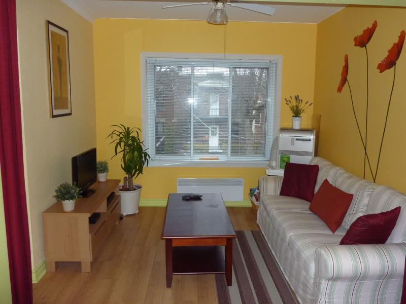 Living room - Furnished apartment located in 2 min feet to metro - Montreal - rentals