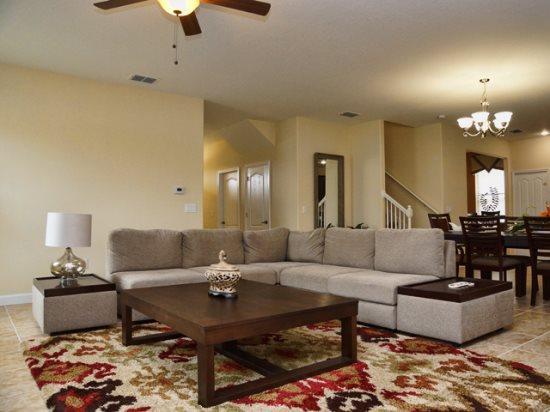 Living Area - CG6P1450MS Orlando 6 BR Pool Home CG6P1450MS - Orlando - rentals