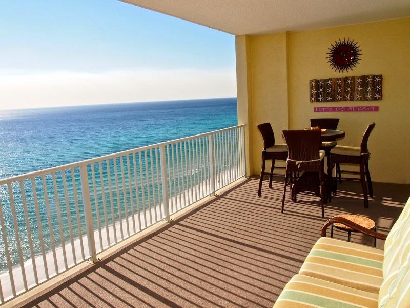 Amazing View from Ocean Reef #1403's private, furnished balcony! - Beach Front at Ocean Reef! 2/2 near Pier Park! - Panama City Beach - rentals