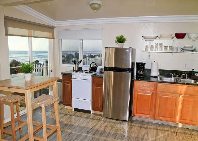 Beach rental with remodels, 1br/1ba, common area w/ firepit, bbq, lawn, patio - Image 1 - Oceanside - rentals