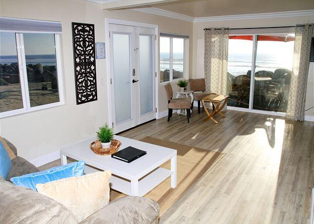 Beach rental with remodels, 2br/1ba, common area w/ firepit, bbq, lawn, patio - Image 1 - Oceanside - rentals
