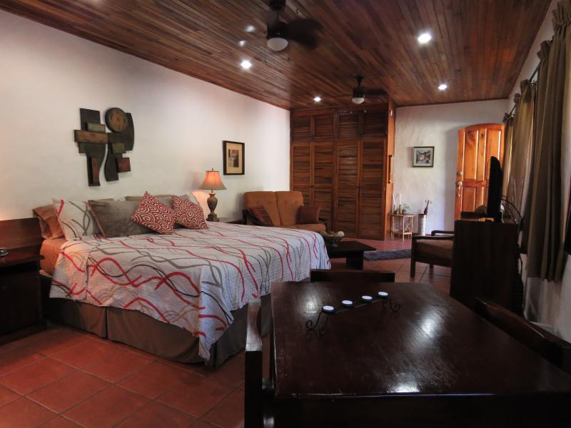 Large Studio, King bed, A/C, cable TV, DVD player, fully equipped kitchen steps from the pool - 600 sq/ft Studio/ King Bed,full Kitchen, A/C, WiFi - Manuel Antonio National Park - rentals