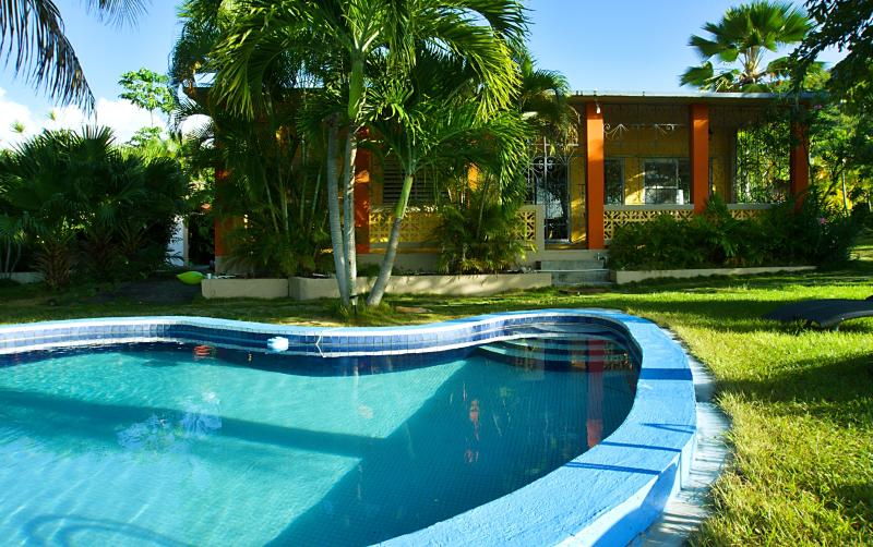Hilltop House with Pool and Tropical Lush Gardens - Image 1 - Culebra - rentals