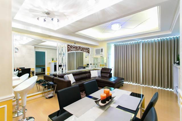 Spacious and comfortable unit with featured mood lighting - Golf & City Views - Avant@The Fort Manila BGC - Taguig City - rentals