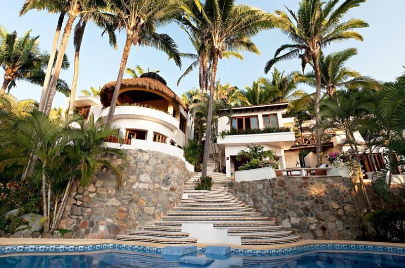 Villa view from the pool - Villa las Palmas - Ocean View Villa! - San Pancho - San Pancho - rentals
