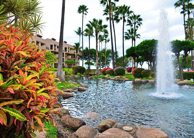 Water Fountain at Kamaole Sands - Kamaole Sands 8-105 Ground Floor 2B 2B Private Location Great Rates! Sleeps 6 - Kihei - rentals