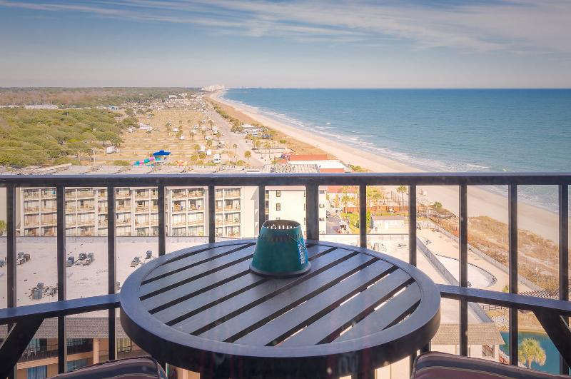 Coastline view taken from balcony. - Incredible coastline views - Myrtle Beach - rentals