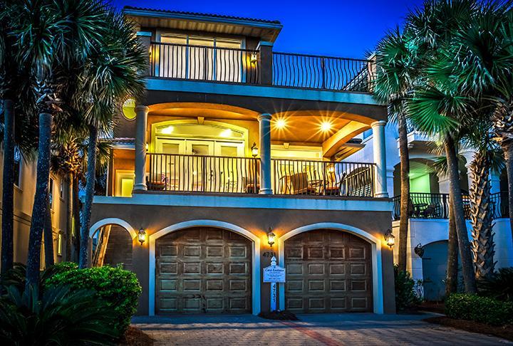 beautiful night house front view - Casa Lontano - Destin - rentals
