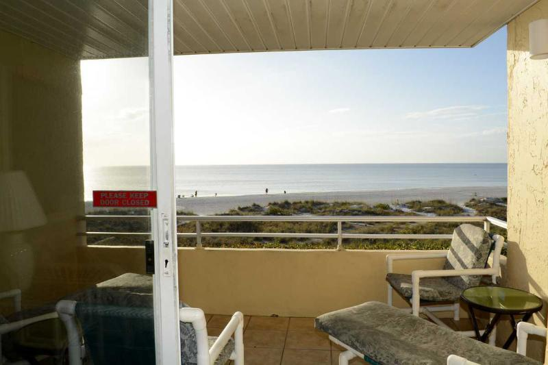 Waiting for the Dolphin to swim by - GULF SANDS UNIT 206 GULF FRONT - Anna Maria Island - rentals