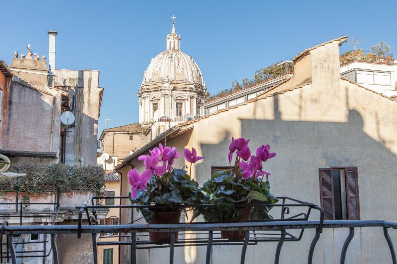Navona Library Balcony Rooftops view  WifiA/C - Image 1 - Rome - rentals