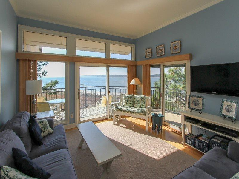 Living Room with Views of the Calibogue Sound at 1883 Beachside Tennis - 1883 Beachside Tennis - Hilton Head - rentals