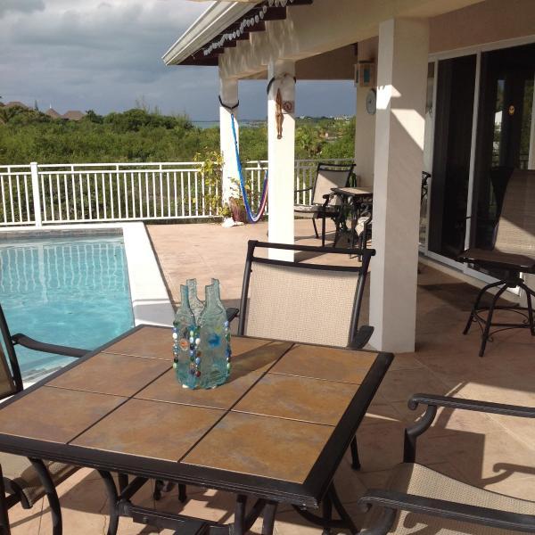 Deck facing Taylor Bay - Casa de Isle right off Taylor Bay - Providenciales - rentals