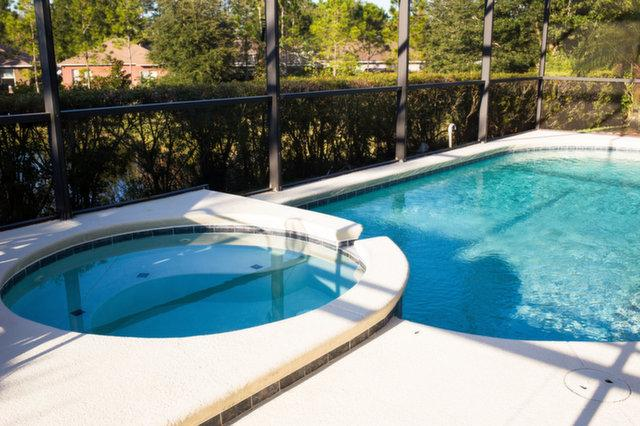 Large pool with hot tub/spa - Beautiful Modern 5 Bed Villa, 15 mins from Disney! - Clermont - rentals