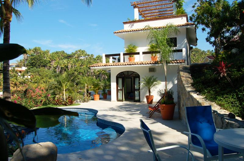 Pool terrace - Casa las Palmas - Ocean View! - San Pancho - San Pancho - rentals