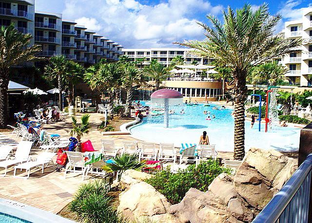 """Waterscape Unit A517"" Water Wonderland/ Lazy River/Waterfalls/5th floor, Gulf Views!! - Image 1 - Fort Walton Beach - rentals"