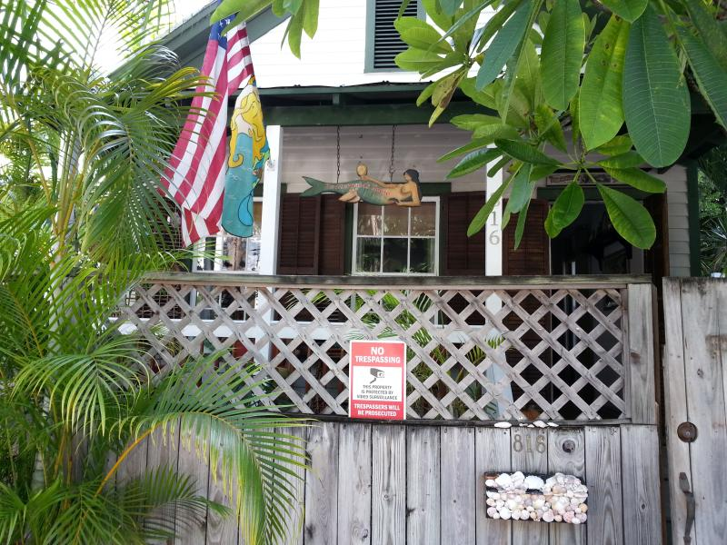 Street view of house. - The Mermaids House, Historic Old Town Key West - Key West - rentals