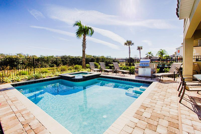 Golf View Pool Area - Fantastic 5 Bed 5 Bath Reunion Pool Home 1145-REUN - Reunion - rentals