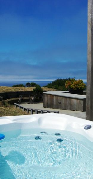 hot tub - Alluring Vista - AlluringVist - Sea Ranch - rentals