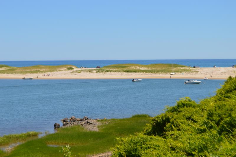View to the right from yard. - Panoramic Ocean View - Nauset Beach - Orleans - rentals